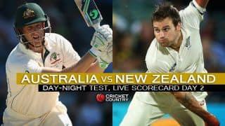 Live Cricket Scorecard: Australia vs New Zealand 2015, 3rd Test at Adelaide, Day 2