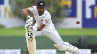 SL vs NZ, 1st Test: Dimuth Karunaratne reacts after victory in Galle Test