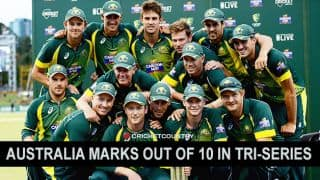 Australia marks out of 10 in tri-series 2015