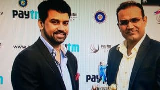 Virender Sehwag felicitated by BCCI ahead of India vs South Africa 2015, 4th Test at Delhi