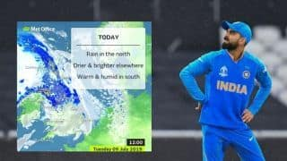 ICC Cricket World Cup 2019, India vs New Zealand, semi-final Weather Report: Rain gets heavier again in Manchester