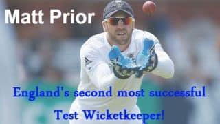 Matt Prior becomes England's second most successful Test wicketkeeper