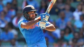 Rohit Sharma dismissed for 16 by Kyle Abbott against South Africa in 5th ODI at Mumbai