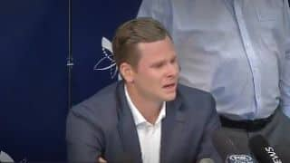 Video: Steven Smith breaks down while addressing press