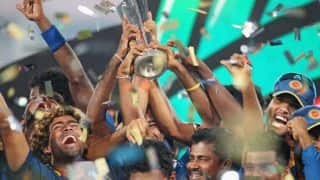 Sri Lanka's ICC World T20 2014 victory celebrations