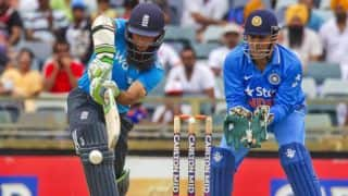 MS Dhoni's wicketkeeping gloves, pads fetch Rs. 2.5 lakhs in charity