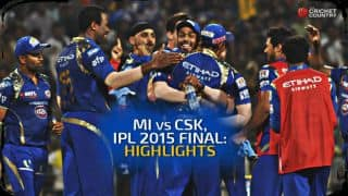 MI vs CSK, IPL 2015 Final at Eden Gardens Highlights
