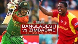 BAN 136/6 in 17.4 overs | Live Cricket Score, Bangladesh vs Zimbabwe 2015, 1st T20I at Mirpur: Bangladesh won by 4 wickets (with 14 balls remaining)
