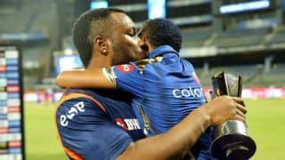 Kieron Pollard's son dedicates Mumbai Indians' win to his mother on her birthday