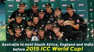 Australia reveal busy schedule before World Cup