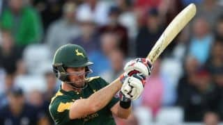T20 Blast: Daniel Christian hits 37 ball century for Nottinghamshire against Northamptonshire