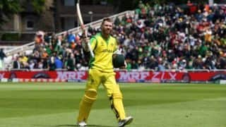 David Warner first to two 150-plus scores in world cup history
