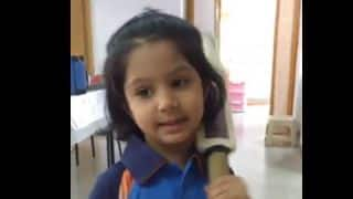 A little kid dresses up like Mithali Raj and boasts of being the India captain