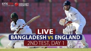 LIVE Cricket Score, Bangladesh vs England, 2nd Test, Day 1 at Dhaka: Half-century for Tamim