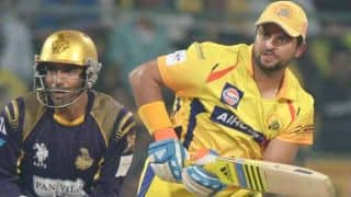 Smith, Raina get out, KKR getting back in the game against CSK