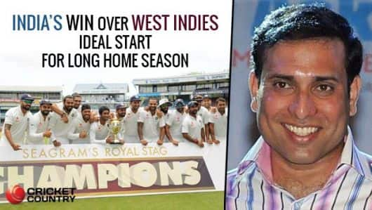 Laxman: IND's win over WI ideal start for long home season