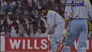 World Cup 1996 quarter-final: India knocks out Pakistan following Ajay Jadeja's sensational assault on Waqar Younis