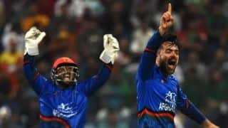 Ali Hasan, Asghar Afghan and Rashid Khan fined 15 percent of match fee