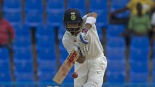 Virat Kohli's fluent century guides India to 302-4 at stumps against West Indies on Day 1, 1st Test at Antigua