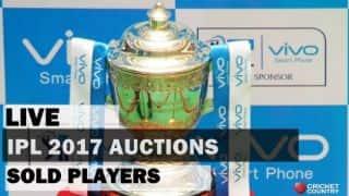 आईपीएल 2017(लाइव ब्लॉग): नीलाम खिलाड़ियों की पूरी सूची
