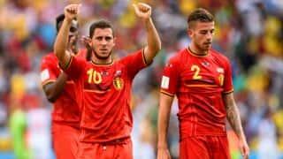 SWE 0-1 BEL FT   Live football score, Euro 2016, Group E, Belgium vs Sweden at Stade de Nice