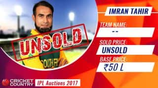 IPL 2017 Auction: No. 1 T20I bowler Imran Tahir goes unsold