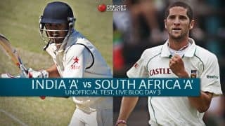 IND A 73/2 | Live Cricket Score India A vs South Africa A, 1st unofficial Test, Day 3: India A 371 more to win