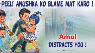 Virat Kohli, Anushka Sharma find their way in to Amul's topical ad