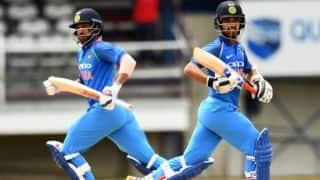 India vs West Indies, 1st ODI: Shikhar Dhawan, Ajinkya Rahane snitch record stand before rain abandons match