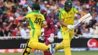 World Cup 2019: Steven Smith, Nathan Coulter-Nile guide Australia to 288 vs West Indies