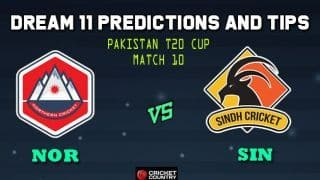 Dream11 Team Northern vs Sindh Pakistan T20 Cup National T20 Cup, 2019 – Cricket Prediction Tips For Today's T20 Match 10 NOR vs SIN at Faisalabad