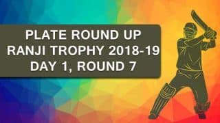 Ranji Trophy 2018-19, Plate, Round 7, Day 1: Manipur take lead on a manic day