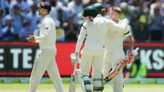 Australia trail England by 153 runs on Day 2; Warner, Khawaja score fifties