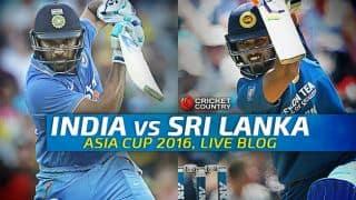 India vs Sri Lanka, Asia Cup 2016 Live Cricket Score Updates