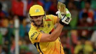 Faf du Plessis dismissed for 32 by JP Duminy against Delhi Daredevils in IPL 2015