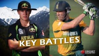AUS vs SA: de Villiers vs Zampa and other key battles