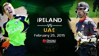 Ireland vs United Arab Emirates (UAE), ICC Cricket World Cup 2015, Pool B Match 16 at Brisbane Preview: Ireland look to continue charge