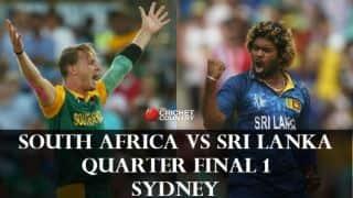 South Africa vs Sri Lanka ICC Cricket World Cup 2015 Quarter Final 1 at Sydney