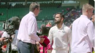 भारतीय क्रिकेटरों ने ग्लेन मैकग्रा को हस्ताक्षर वाली पिंक टोपी दी