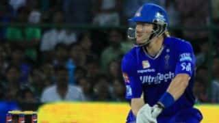 Rajasthan Royals (RR) vs Kings XI Punjab (KXIP), IPL 2014: Shane Watson dismissed for 50