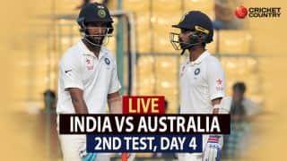 Live Cricket Score, India vs Australia 2017, 2nd Test, Day 4: India level series with 75-run win