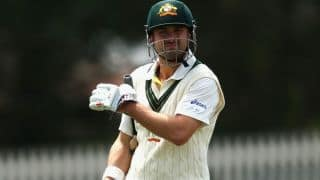 Ed Cowan retires hurt after suffering a blow to the head during Sheffield Shield match