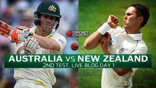 AUS 416/2 | Live Cricket Score, Australia vs New Zealand 2015, 2nd Test at Perth, Day 1: Stumps