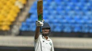 Wadkar's maiden First-Class 100 gifts Vidarbha 233-run lead over Delhi on Day 3