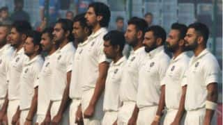 India cricketers sport badge to commemorate Armed Forces week