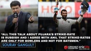 Sourav Ganguly rubbishes talks over Cheteshwar Pujara's strike-rate