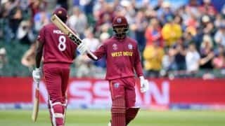 Cricket World Cup 2019: Shai Hope century leads West Indies to 91-run win over New Zealand in warm-up match