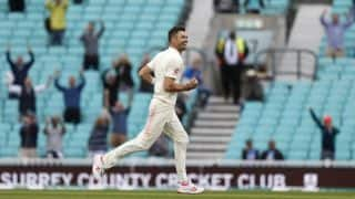 Wasn't thinking of the record, says emotionally drained James Anderson after sealing England win