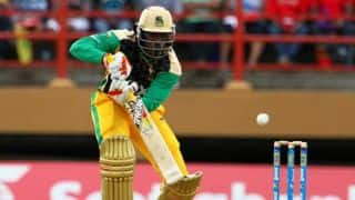 Chris Gayle's quick-fire innings takes Jamaica Tallawahs to victory over Antigua Hawksbills in CPL 2014