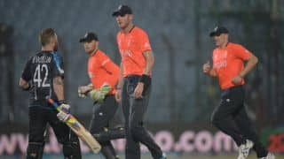 England vs New Zealand, ICC World T20 2014: Rain stops play, New Zealand ahead on D/L method